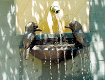 Garden Fountains: Kookaburra Wall Fountain as seen in Country Style magazine, Australia