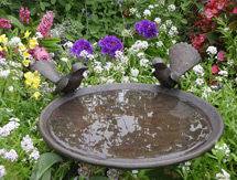 Garden Sculpture: Willy-Wagtail Birdbath Dish as seen in Country Style magazine, Australia