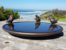 300mm Short Tailed Wren Birdbath Dish