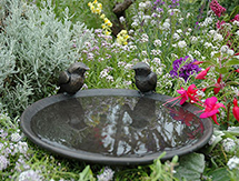 Garden Present Ideas for men and ladies: Robin Birdbath Dish - launched at the Chelsea Flower Show, London, UK