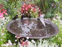 Garden Sculpture: Swallow Birdbath as seen in Gardens Illustrated Magazine, UK