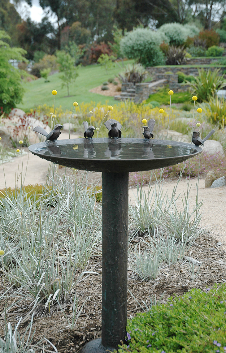 600mm Blue Wren and Willy Wagtail Birdbath