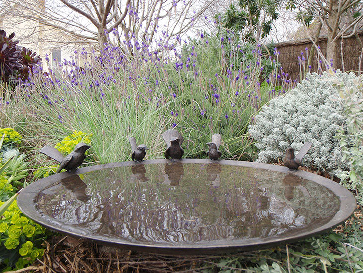Willy-Wagtail & Wren Birdbath Bowl