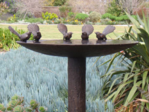 Christmas Birthday Present ideas for men and ladies: Fantail Birdbath - launched, Ellerslie, International Flower Show, New Zealand