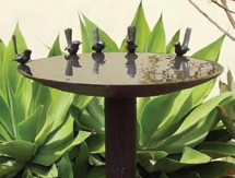 Wedding Anniversary Present Ideas for men and ladies: Blue Wren Birdbath - launched at the Melbourne International Flower and Garden Show, Australia