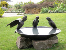 Garden Sculpture: Galah Birdbath Bowl as seen in Country Style Magazine, Australia