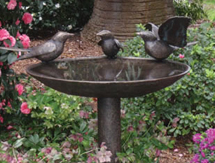 UK Garden Sculpture: European Magpie Birdbath as seen in Gardens Illustrated Magazine, UK